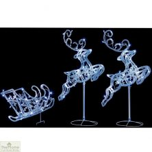 LED Flying Reindeer with Sleigh