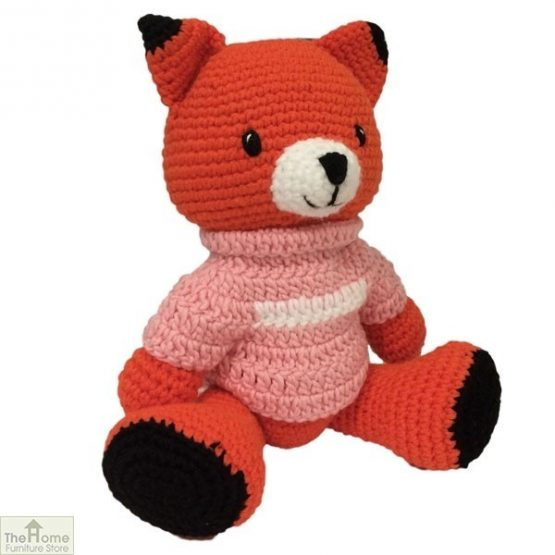 Fox Knitted Toy Pink