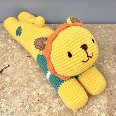 aying Lion Knitted Toy Blue_1