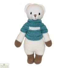 Bear Knitted Toy Blue