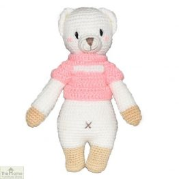 Bear Knitted Toy Pink