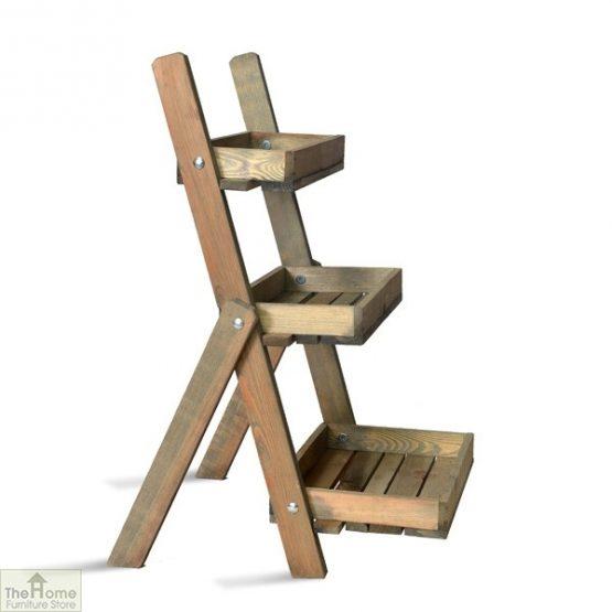 Spruce Potting Ladder Shelf