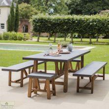 Large Bench Dining Set