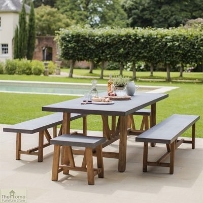 Large Bench Dining Set_1