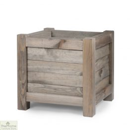 Spruce Wood Square Planter