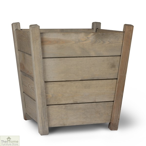 Spruce Wood Tapered Planter