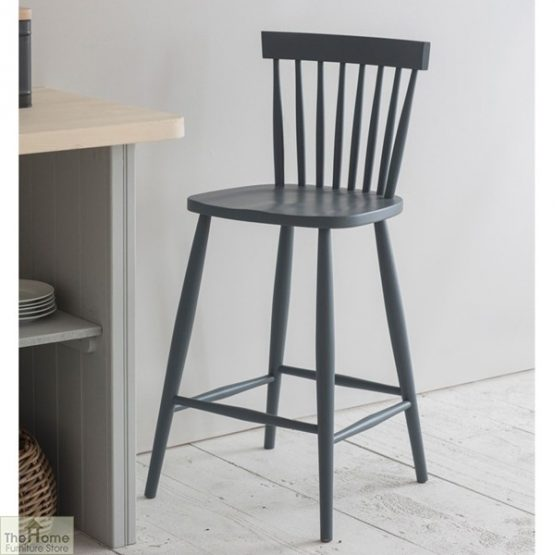 Spindle Back Bar Stool Charcoal_1