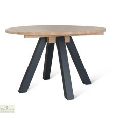 Raw Oak Round Dining Table