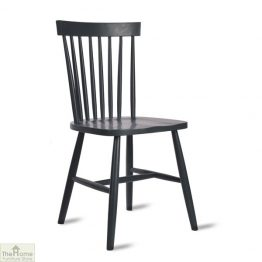Spindle Back Chair Dark Grey