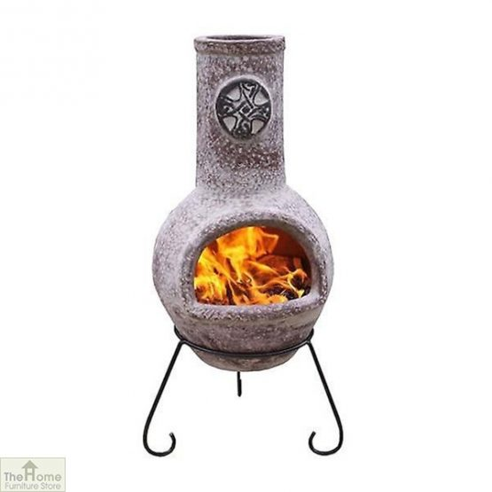 Large Mexican Clay Garden Chimenea
