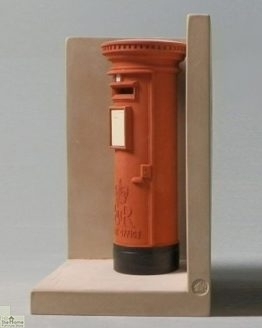 Red London Post Box Bookend