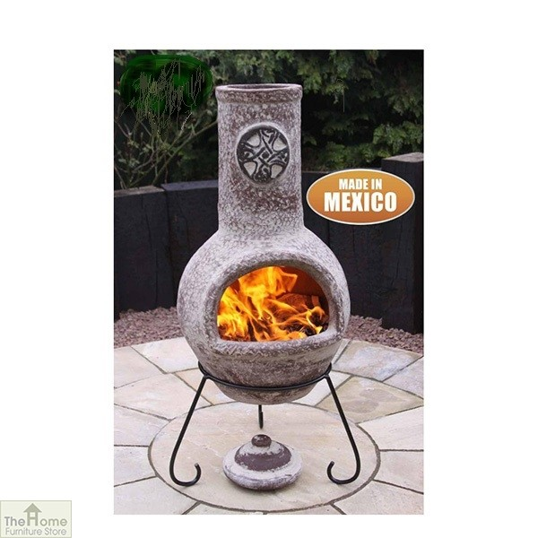Large Mexican Clay Garden Chimenea_1