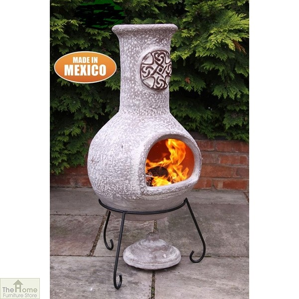 Extra Large Mexican Clay Garden Chimenea