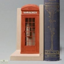 Red London Telephone Box Bookend