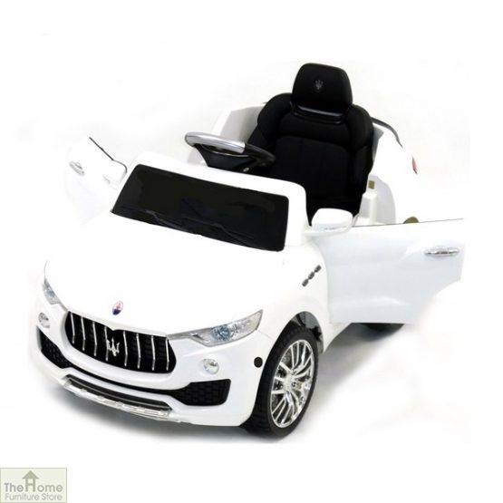 Maserati White Ride on Car_1