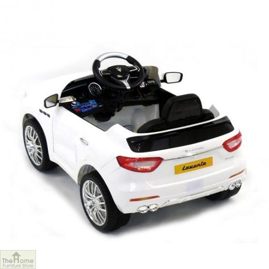 Maserati White Ride on Car_3