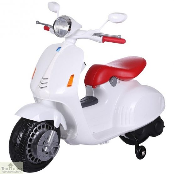 White Electric Ride On Scooter