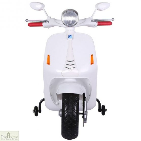 White Electric Ride On Scooter_1