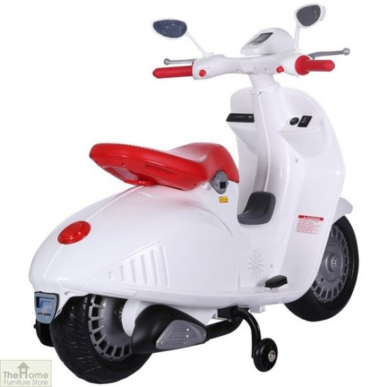 White Electric Ride On Scooter_4