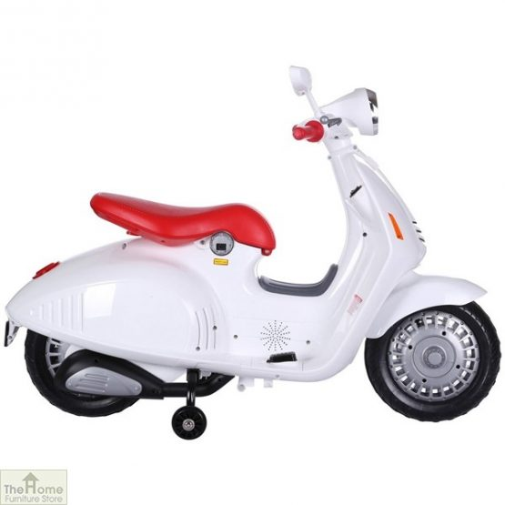 White Electric Ride On Scooter_3
