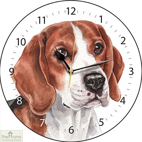 Beagle Dog Print Wall Clock