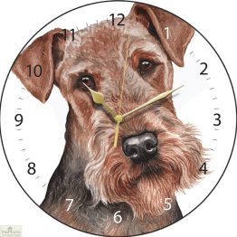 Airedale Dog Print Wall Clock