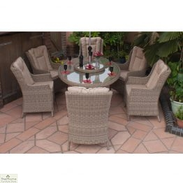 Casamoré Corfu Oval 6 Seater Dining Set