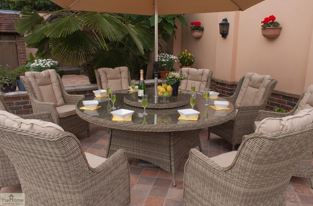 Casamor Corfu Round 8 Seater Dining Set Hfs
