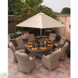 Casamoré Corfu Oval 8 Seater Dining Set