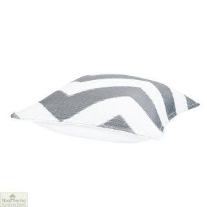 Grey and White Cushion