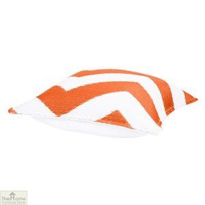 Orange and White Cushion