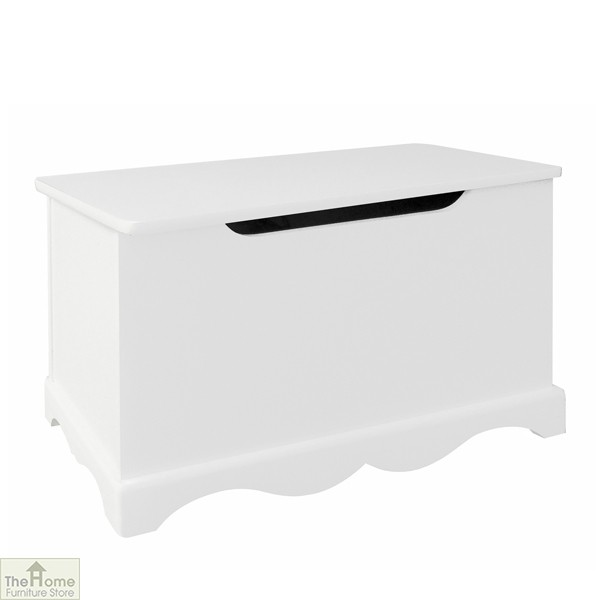 White Wooden Toy Box