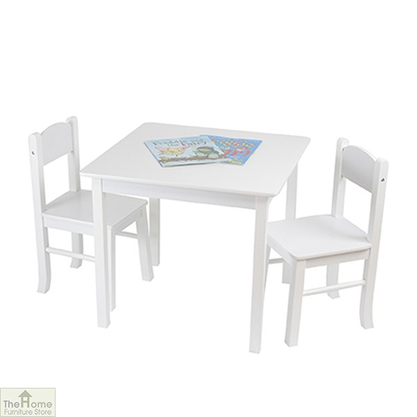 White Table and Chairs Set