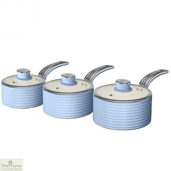 Blue Retro Ceramic Saucepans