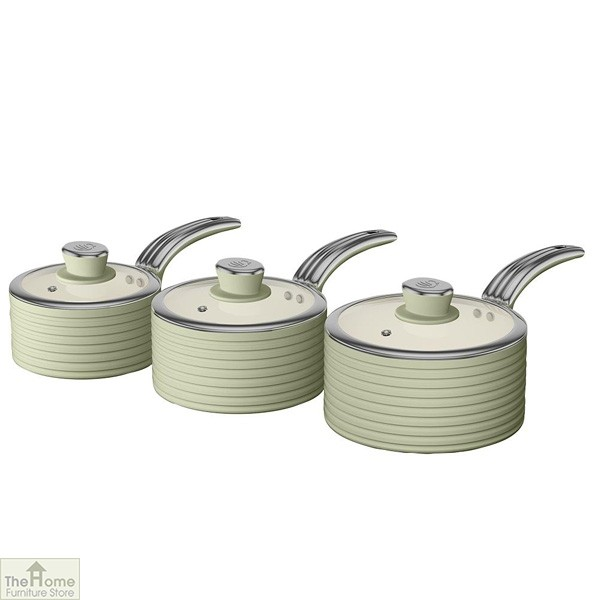 Green Retro Ceramic Saucepans