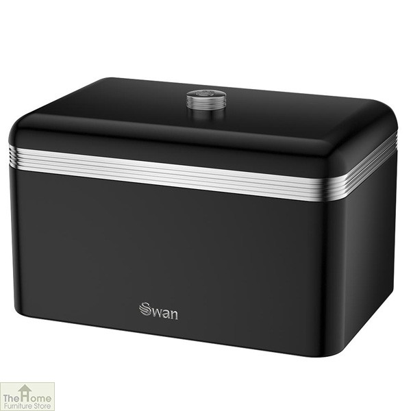 Black Retro Bread Bin