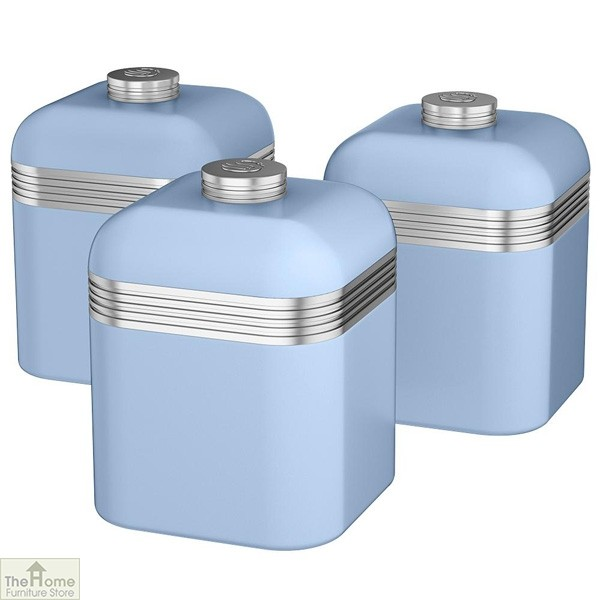 Blue Retro Kitchen Canisters