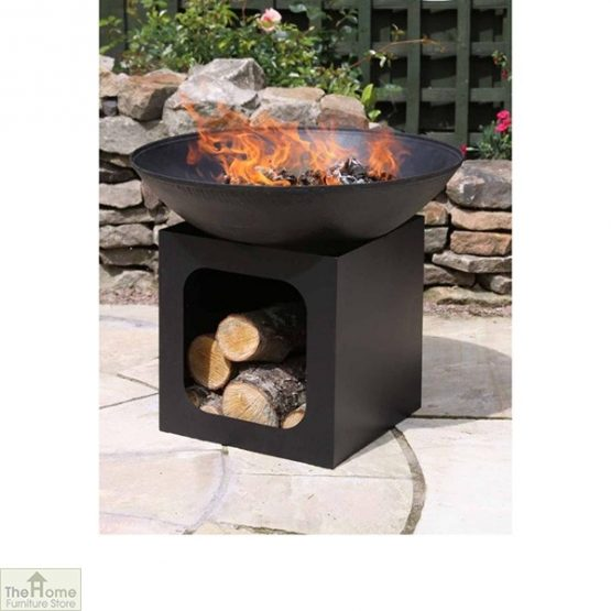 Cast IronCast Iron Firebowl With Log Store_3