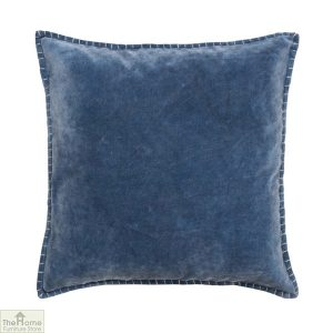 Denim Blue Velvet Cushion Cover