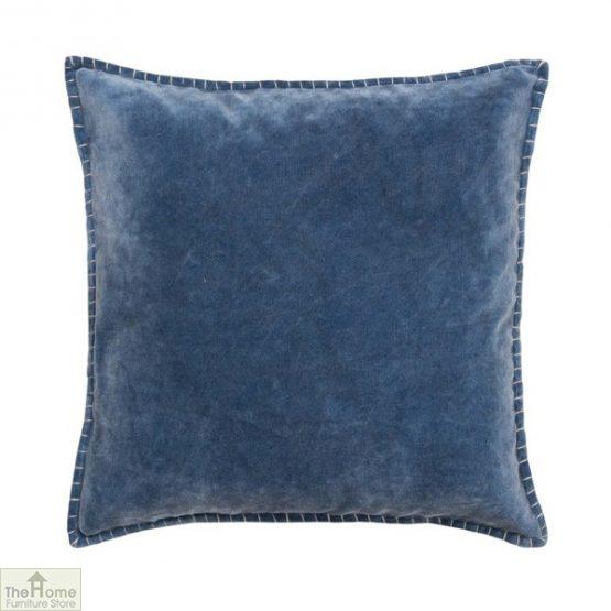 Denim Blue Velvet Cushion Cover