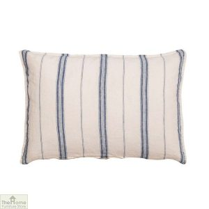 Blue White Stripe Linen Cushion Cover
