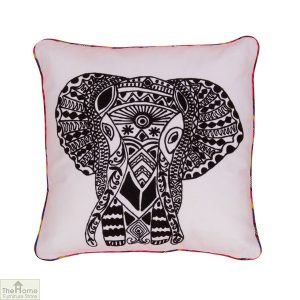 Elephant Embroidered Cushion