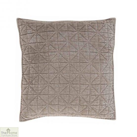 Stone Cotton Velvet Cushion
