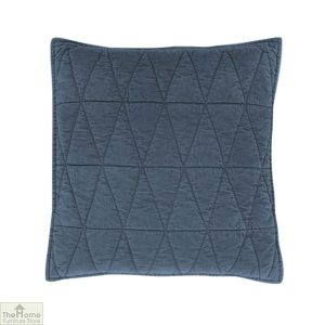 Storm Blue Cotton Velvet Cushion