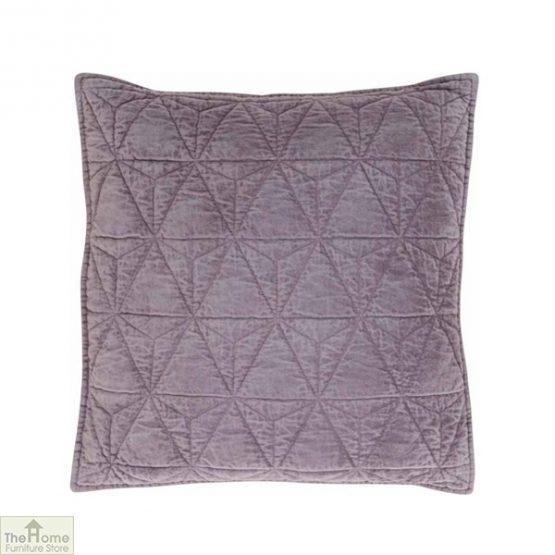 Purple Cotton Velvet Cushion