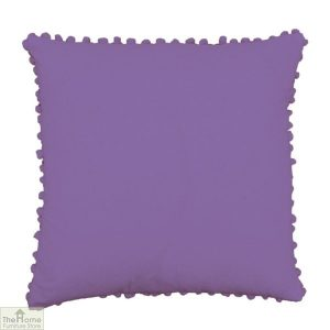 Hyacinth Pom Pom Cotton Cushion