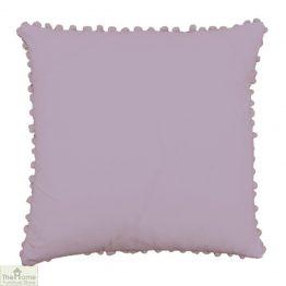 Orchid Pom Pom Cotton Cushion
