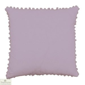 Orchid Pom Pom Cotton Cushion