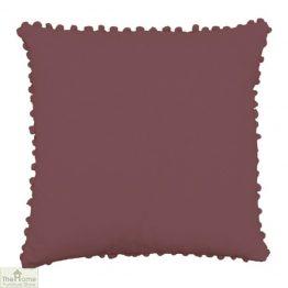 Red Pom Pom Cotton Cushion