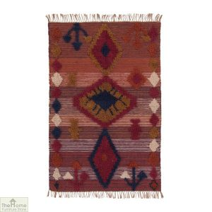Sunset Fringed Wool Rug